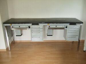 Kavo Doppel-Arbeitsplatz / Arbeitstisch mit Absaugung Generalüberholt