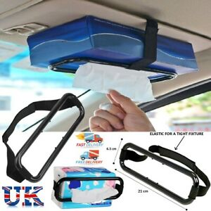 Car Tissue Box Band Holder Napkin Universal Sun Visor Vehicle Back Seat Head UK