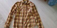Diesel Men's Flannel Shirt XXL Long Sleeve Plaid Western Pearl Snap EUC 50 chest