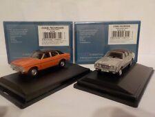 Ford Cortina Mk3 (x2)  Orange + Silver Model Cars, Oxford Diecast 1/76