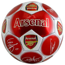 OFFICIAL ARSENAL FC GUNNERS SIGNATURE FOOTBALL ADULT SIZE 5 NEW XMAS GIFT