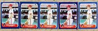 Mike Schmidt 1986 Fleer #450 5ct Card Lot