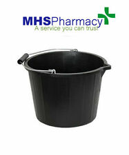 15 Litre Black Plastic Bucket with Handle