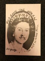 The Sex Pistols Safety Pin Queen 1977 ORIGINAL PROMO Gum back FLYER + COA PUNK
