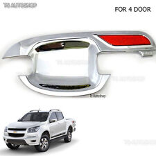 FITT 4 Door Chrome Handle Bowl Insert Cover Fits Chevrolet Colorado Ute 12 2015