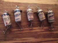 5 Different Busch & Busch Light Beer Promotional Spinning Fishing Lures