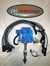 FORD 351C/M 429 460 HEI DISTRIBUTOR BLUE + SPARK PLUG WIRES - MADE IN USA