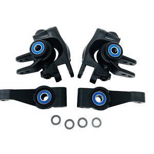 Traxxas Hoss/Rustler 4x4 VXL - Caster Steering Blocks - Rear Stub Axle Carriers