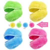 Roller Ball Automatic Dog Cat Toys Robotic Microfiber Ball Sweeper S6L8
