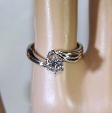 0.45 ctw Diamond 14k White Gold Solitaire Ring Size 7