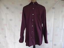 Ermenegildo Zegna Rayon &Cotton Burgundy coloured shirt