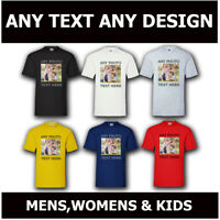 Personalised T Shirt Custom Your Image Printed Party Mens Womens Kids T Shirt