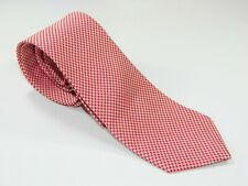 Men's BROOKS BROTHERS MAKERS NECKTIE Tie MADE IN USA  RED & WHITE
