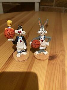 Vintage 1996 Warner Bros Space Jam Figure Bugs Bunny , Sylvester and Tweetie Pie