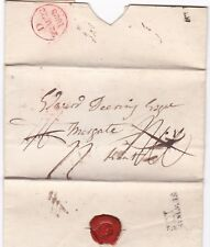# 1828 NEWPORT ISLE OF WIGHT MILEAGE  PRE-STAMP LETTER > EDWARD DEERING MARGATE