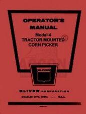 Oliver Model 4 Corn Picker Tractor Operators Manual