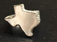 Vintage Texas State Design Signet Sterling Silver 925 Ring 12g Sz8.5