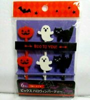 Halloween Japanese Food Picks 6pcs fPumpkin Black Cat Lunch Box Bento  KAWAII!!