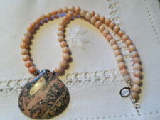 18 1/2'' STERLING SILVER, Coral and Jasper necklace