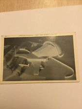 Old Postcard 1939 Worlds Fair Aviation Building Plane Airport Rare