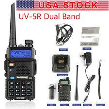 Baofeng UV-5R UHF VHF Dual Band Two Way Ham Radio Walkie Talkie w/ Flashlight