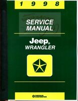 WRANGLER 1998 JEEP SHOP MANUAL SERVICE REPAIR BOOK
