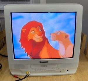 "Panasonic PV-C2032W 20"" CRT Television Retro Gaming TV - READ DESCRIPTION"