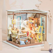 Robotime Miniature Dollhouse Wooden DIY House Kit Gift (LISA'S TAILOR)