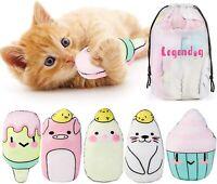 Cat Catnip Toys 5Pcs Pillows Cat Toys with Catnip Cat Toys for Indoor Cats