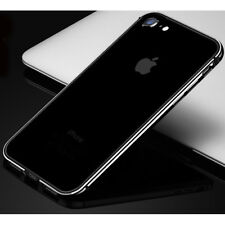 Aluminum Metal Bumper Rug Rubber Shockproof Slim Case For iPhone X 7 Plus/6S/8