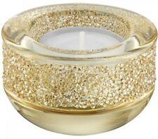 Swarovski Shimmer Tea Light Candle Holders , Gold Tone  5108877