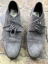 Men's Gray Suede Dress Shoes Size 7