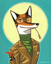 FANTASTIC MR FOX Original Art Acrylic Painting ROALD DAHL Wes Anderson 1 OF KIND