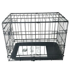 Small Dog Cage Puppy Training Crate Carrier Metal Tray Pet Cat Rabbit Animal Pen