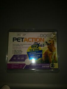 Pet Action PetAction Plus Flea & Tick Drops for Large dogs 45 - 88 lbs.NEW SEALD