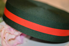 2 yards Gucci inspired green and red striped grosgrain ribbon Diy shoes/collars/