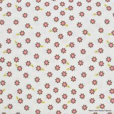 Indian Summer Cream Daisy by Zoe Pearn for Riley Blake, 1/2 yard cotton fabric