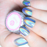 Holographic Silver Nail Glitter Powder Mirror Effect Manicure Chrome Pigment DIY