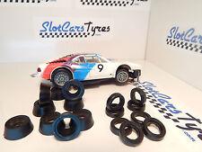 8 pneus AV + 8 AR  pour Carrera Servo 140