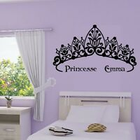 Stickers Mural Couronne de Princesse + prénom personnalisable