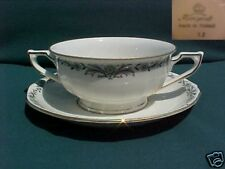 KOENIGSZELT CHINA OF POLAND CREAM SOUP AND SAUCER SET