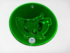 "Holmegaard Denmark Danish Michael Bang Noah's Ark Elephants Green 5"" Suncatcher"