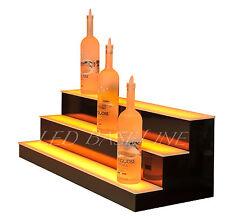 29 Led Lighted Bar Shelf Three Step Liquor Bottle Glorifier Back Bar Shelving
