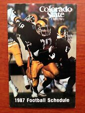 CFB 1987 COLORADO STATE RAMS Football Schedule College FB
