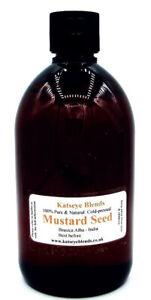 Mustard Seed Oil x 500ml Cold-pressed Therapeutic Grade 100% Pure