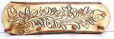 En bois Porte Manteau 4 pinces à linge Cintre,sculpté fleurs ,Style Rustique