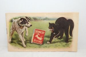 Rare Vintage 1910 Honest Scrap Chewing Smoking Tobacco Comic Book Booklet Sign