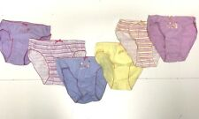 New Girls Kids 6pc UNDERWEAR GIFT: 2 SETS OF 3 ROLLED PANTIES Sz 6-8 RTL $50 R42