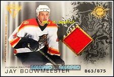 PACIFIC TITANIUM 2003 JAY BOUWMEESTER FLORIDA PANTHERS GAME JERSEY RED /875