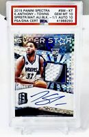 Karl Anthony Towns Spectra Black Prizm RPA RC TRUE 1/1 PSA 10 Auto 10